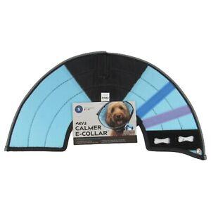 """KVP Calmer E-Collar Size SMALL 8""""-11"""" NEW Fleece Dog Recovery Collar Blue"""