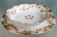 Haviland Limoges Berry Bowl with Under Plate H&Co Schleiger France French