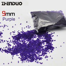 10,000PCS 9mm Hardened Gel Balls Water Crystal Beads Soft Bullet - Purple