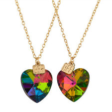 Lux Accessories Prism BFF Plate Best Friends Forever Matching Pendant Necklaces