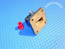 TRANSITION MICROWAVE ADAPTOR WAVEGUIDE WR-75 COAX SMA KU-BAND ATM 10 14 15 GHz