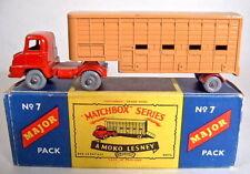 Matchbox Major Pack M7A Cattle Truck rot/d'braun graue Räder top in MOKO Box