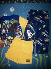 Star Wars Pajamas Sleepwear 3pc Set Boys 4 The Clone Wars