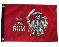 """Peace Love Rum 12X18"""" Pirate Flag Jolly Roger New Skull"""