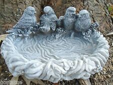 Latex with plastic backup birds small birdbath mold plaster concrete mould