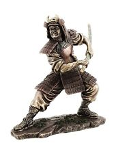 """8.25"""" Samurai in Fighting Stance Collectible Statue Figurine Warrior Oriental"""