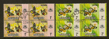 MALACCA ( Malaysia)  : 1971 Butterflies 1c & 2c  SG 70-1 used  blocks of four