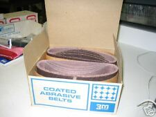 TWO PIECES OF 3M THREE-M-ITE SANDING BELTS 100X 4x21 OPEN COAT