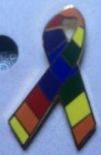 Rainbow Ribbon Lapel Hat Pin