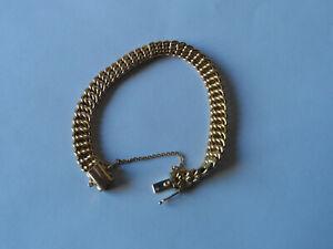 Bracelet Gourmette maille Américaine Or 18 Carats 750/1000