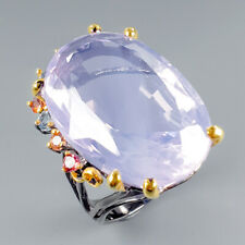 Top AA70ct+ Natural Lavender Amethyst 925 Sterling Silver Ring Size 8.5/R117057