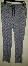 Lands End blue white china chinoiserie pattern pants. 8P 8 petite NWOT