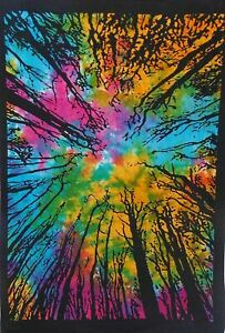 Home Decorative Tie Die Yoga Mat Bedspread Wall Hanging Twin Size Tapestry