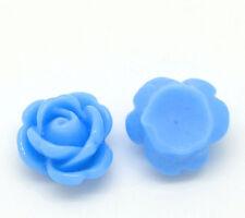 Lot 20 Perle Fleur a Coller, Applique à coller, Fleur Bleu Pour vos decoration