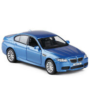 BMW M5 1/36 Scale Model Car Metal Diecast Gift Toy Vehicle Kids Pull Back Blue