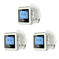 3X RF Wireless Watch Calling Receiver Call Pager System for Restaurant/Hospital