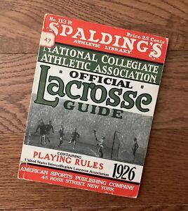 Vintage 1926 Official Collegiate / Scholastic Lacrosse Guide