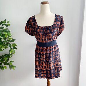 NEW Angel Maternity Women's Size XL Maternity Dress  Black and Orange Pattern