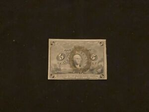 FR. 1233 5 FIVE CENTS SECOND ISSUE FRACTIONAL CURRENCY NOTE UFI