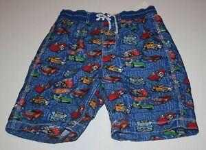New Gap Kids Boys Swimsuit Trucks Bottoms Shorts 14 16 year XXL Hot Wheels Cars