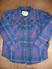 """BNWT Aeropostale p.s. blue/red plaid padded quilited cotton short, 40"""" chest."""