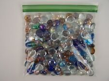 Bag Mixed Color Glass Gems Pebbles Stones Flat Marbles for Vase Accents & Crafts
