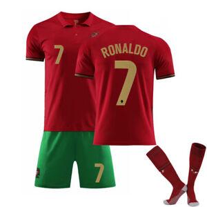 20/21 Portugal Heimtrikot Nr. 7 Cristiano Ronaldo Trikot mit dreiteiligen Socken