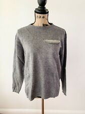 Brunello Cucinelli Womans Cashmere Jogging Sport Track Suit Grey Size Medium