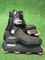 Vintage Roces Majestic Black Aggressive Inline Skates US Size 8 Made In Italy OG