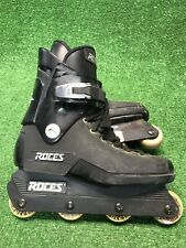 Vintage Roces Majestic Black Aggressive Inline Skates US Size 8 Made In Italy OG