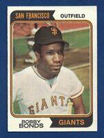 1974 Topps Bobby Bonds San Francisco Giants Baseball Card #30