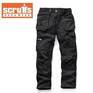 Scruffs TRADE FLEX Slim Fit Work Trousers Black  , Hard Wearing Slim fitting