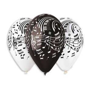 """20 x 12'' Balloons note printed, music balloon printed, 12"""" 20 pcs extra quality"""