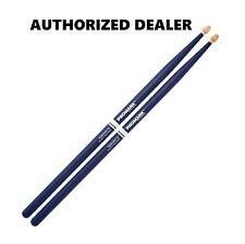 "Promark Hickory Rebound 7A .535"" Acorn Wood Tip Drum Sticks RBH535AW Blue"