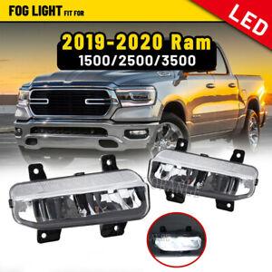 LED Fog Light Driving Lamp for Dodge 2019 20 2021 Ram 1500 2500 3500 Left+Right
