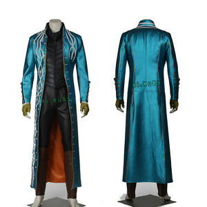 New Original Vergil Cosplay Costume Fancy Trench Customize