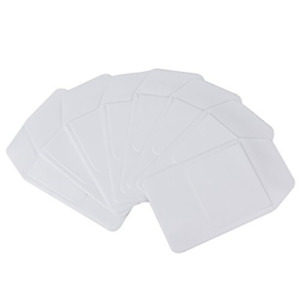 White Pocket Protector With Pen Leaks For School,Hospital, Office 8pcs