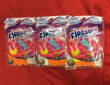 3pks Plackers Kids Flossers with Fluoride Fruit Smoothie Swirl Flavor BPA Free