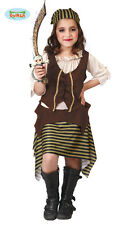 Costume Bucaniera Bambina TAGLIA 5/6 ANNI Travestimento Piratessa Carnevale