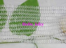 6 strands clear Glass beads flat round 8mm M2612