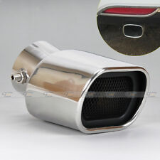 Universal CURVED Exhaust  Rear Tailpipe End<58mm For Toyota Prius Ford Focus