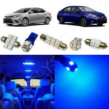 6x Blue LED lights interior package kit for 2015 & Up Toyota Corolla TC1B