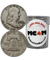 $10 Face Value - 20 Coins - 90% Silver Franklin Half Dollars Avg Circ SKU32668