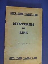 MYSTERIES OF LIFE Written & Compiled for the Public Welfare Pictures Corp. c1927