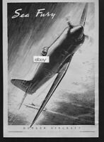 HAWKER SIDDELEY AIRCRAFT 1947 SEA FURY ART AD