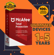 McAfee Total Protection Antivirus Unlimited Device PC | 1 to 5 Year GLOBAL