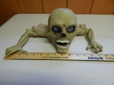 zombie head skull crawler halloween moving motion activated monster