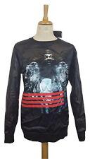 #775 Hack Mens Blackwatch Crew Gangsta Snoop Rap Jumper Sweater, Large, RRP £50