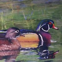 Rebecca Mancino Becky Litke Print Waterfowl Duck Painting Framed Matted Signed
