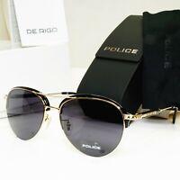 Authentic POLICE Mens Sunglasses Designer Black Gold Pilot SPL 889G COL 0300